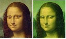 Мона Лиза - нарушенный баланс цветов