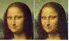Мона Лиза - когда на изображении много шума